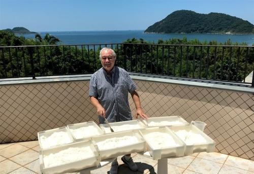 Secagem do sal por solarização
